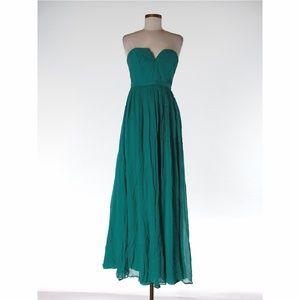 J. Crew Silk Chiffon Gown